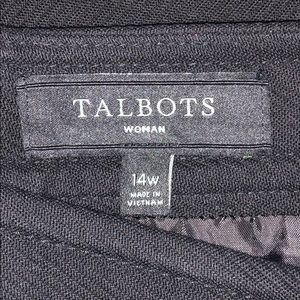 Talbots Skirts - Talbots 14W Striped Gold Button Lined Pencil Skirt